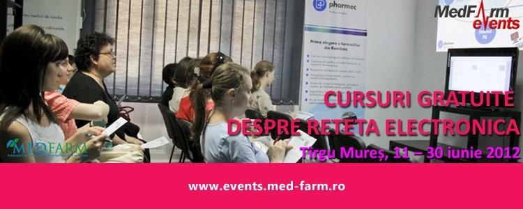 Cursuri gratuite despre reteta electronica pentru medici si farmacisti,11-30 iunie 2012