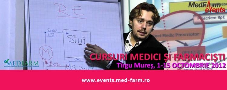 Cursuri pentru medici și farmaciști, 1-15 Octombrie 2012