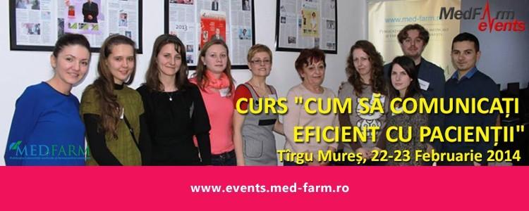 """Curs """"Cum să comunicați eficient cu pacienții"""", 22-23 Februarie 2014"""